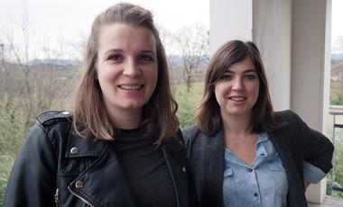 Amélie Devaux et Maud Tyrbas. ©Agglo/V.Biard