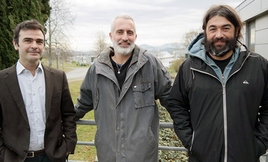 L'équipe d'Axiome Solution : Nicolas Louvet, Frédéric Camjuzan et Fabrice Lafond. ©Agglo/V.Biard