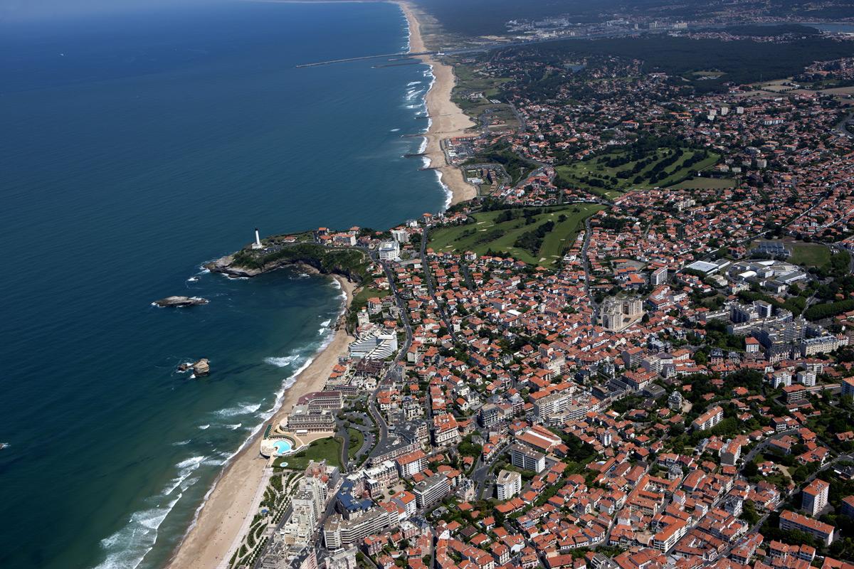 Vue aérienne Côte Basque ©SARL-PHOTO-AERIENNE-TIRAGE